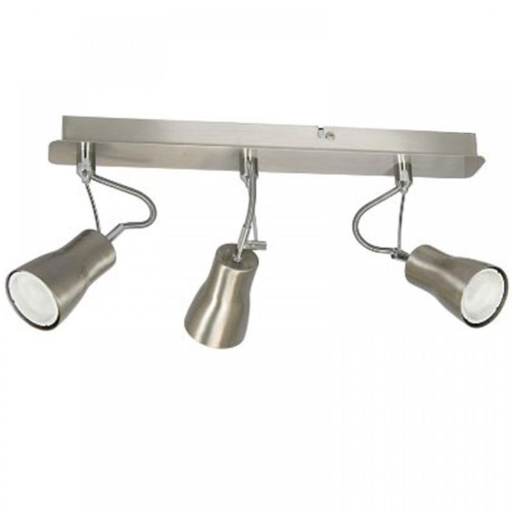 RANEX VIGGO FLEXILIGHT BRUSHED STEEL THREE GU10 BAR CEILING SPOTLIGHT 6000.286 selected for attic at 16.99 each 2 or 3?