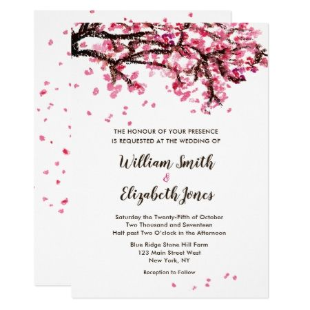Painted Cherry Blossom Wedding Invitation - click to get yours right now!