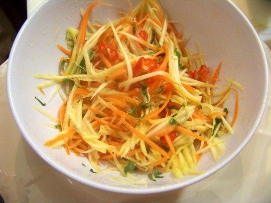 Salade de mangue verte et carottes