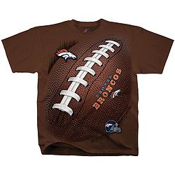 NFL Kickoff: Get behind your team pre-season in a pigskin-patterned tee with official NFL logo and design. Brown 100% cotton. Imported.…
