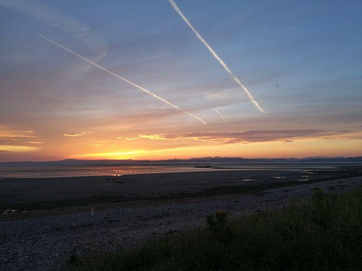 #morecambe #sunset #outdoors   #peaceful #beautiful #calm #sky #coast