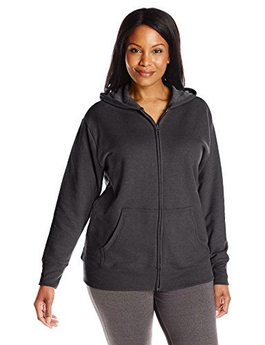 Just My Size Women's Plus-Size Full Zip Fleece Hoodie -- For more information, visit image link.