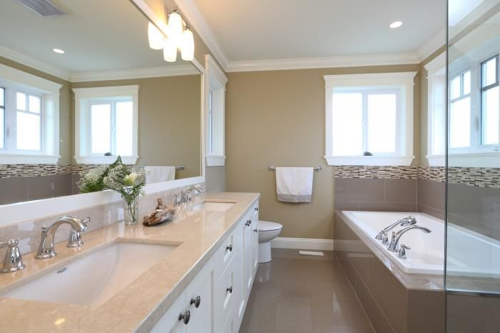 Ensuite feels like a spa in this new luxury custom home in Burnaby