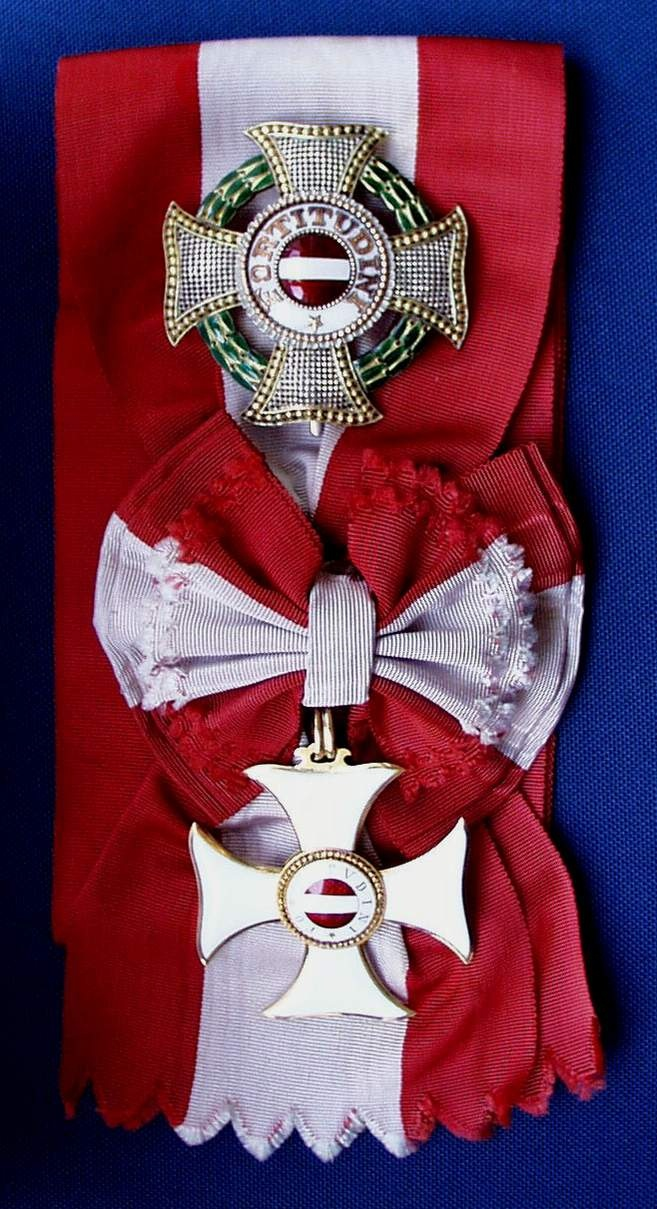 Sash and stars of the Military Order of Maria Theresa