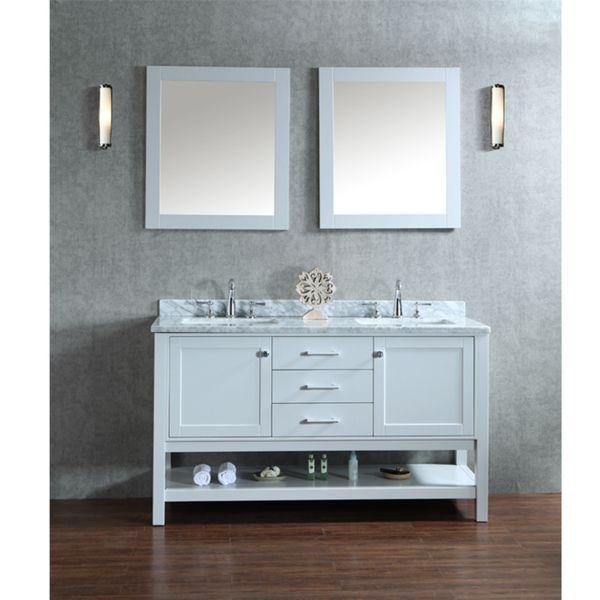 Ariel Bayhill 60 Inch Double Sink Bathroom Vanity Set Grey Size Vanities Pinterest And Sinks