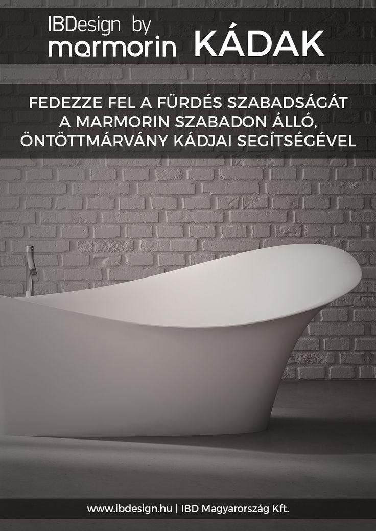 Exkluzív szabadonálló kádak a Marmorintól! #marmorin #exclusive #bathtube #bathroom #bath #design #freedom #beauty #white #minimal #style