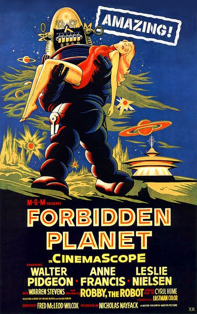 Forbidden Planet. A film MGM spent a lot of time on in production. One of the all-time great Sci-Fi films and it still holds up today with it's great visual look.