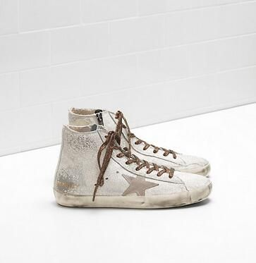 Sneaker Homme Pas cher en Soldes, Blanc, Cuir, 2017, 40 41 43Golden Goose