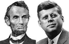Abe Lincoln was elected to Congress in 1846.John F. Kennedy was elected to Congress in 1946.Abe Lincoln was elected President in1860.Kennedy was elected President in 1960.Both were particularly concerned with civil rights.Both wives losta child while living in the White House.Both Presidents were shot ona Friday.  Both Presidents were shot in the head.Lincolns secretary was named Kennedy.Kennedys Secretary was named Lincoln.Both were assassinated by Southerners.. its gets weirder..