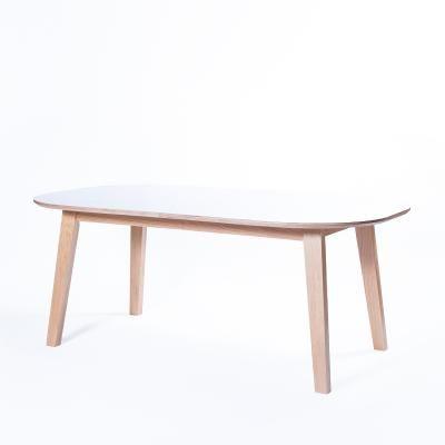 Nordik ovalt matbord, vit/ek i gruppen Bord / Matbord