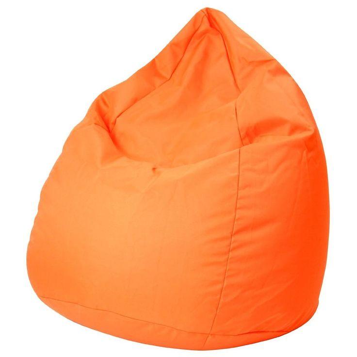 Bean Bag Chair Orange XL Lazy Seat Waterproof Gaming With Zipper Pouffe