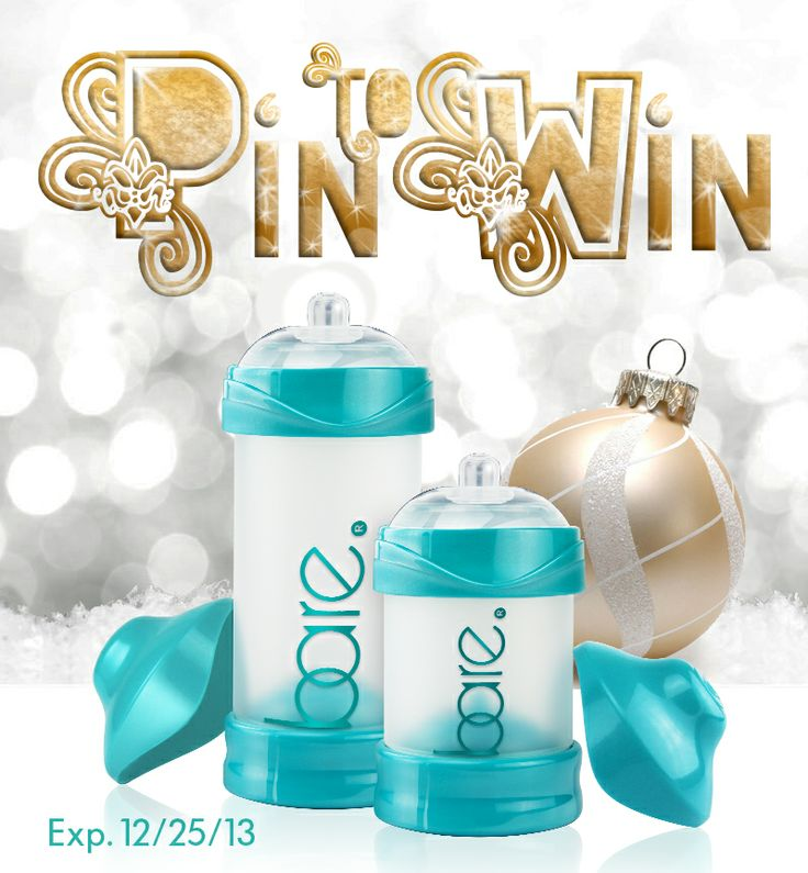 Pin & Share to #Win 20 Bare® air-free #baby bottles on Xmas Day. 20 Days to enter. |