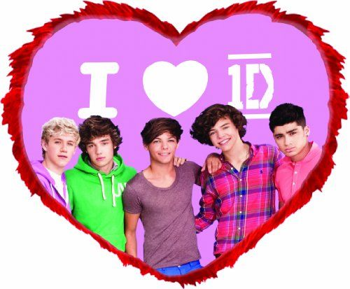 One Direction 52440   1D Cuscino A Forma Di Cuore, 35x27 Cm One Direction  Http