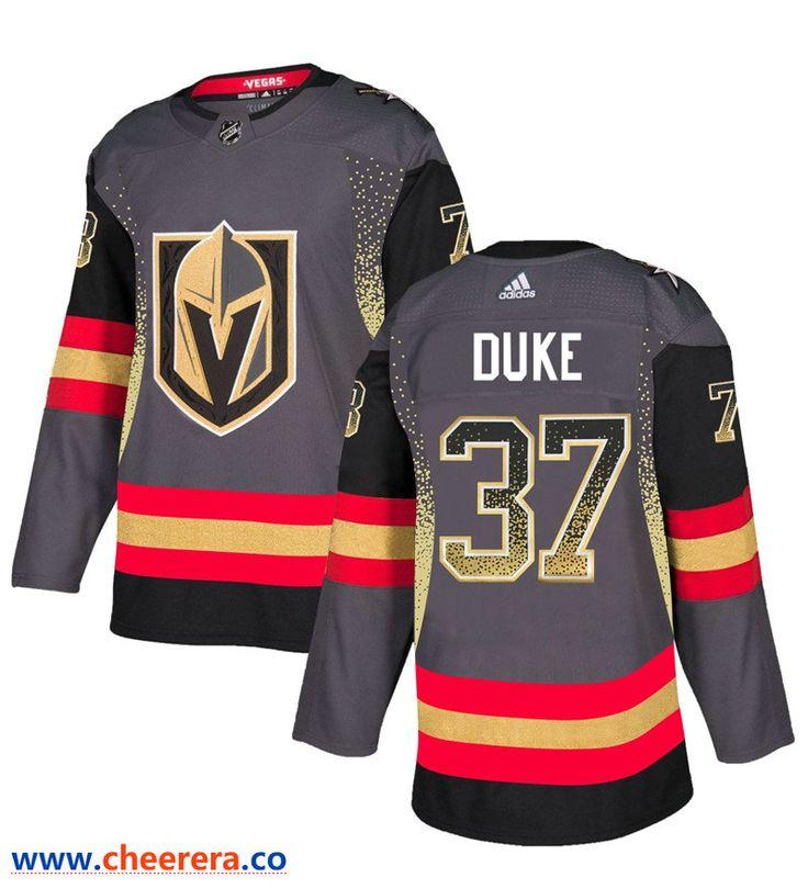 Men's Vegas Golden Knights 37 Reid Duke Gray Drift