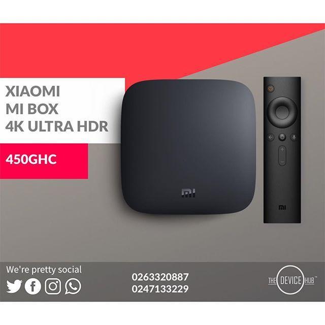 XIAOMI MI BOX 4K ULTRA HD SET TOP BOX PRICE:450GHC TO ORDER
