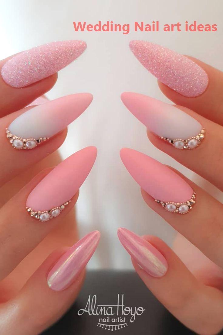 Neue Strickmode 2020 in 2020 | Bridal nail art, Pink ...