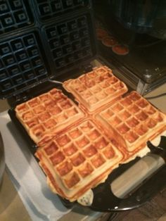 4-Ingredient Peanut Butter Protein Waffles | Mackenzie's Clean Eats