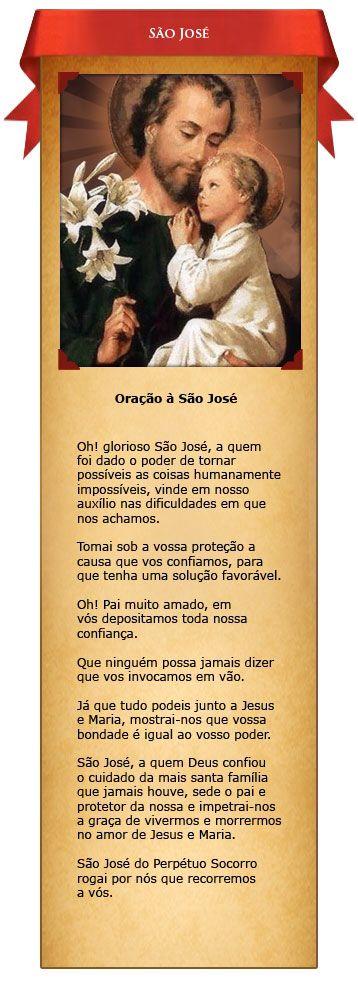 Saint Joseph São José 19 de Março Oração