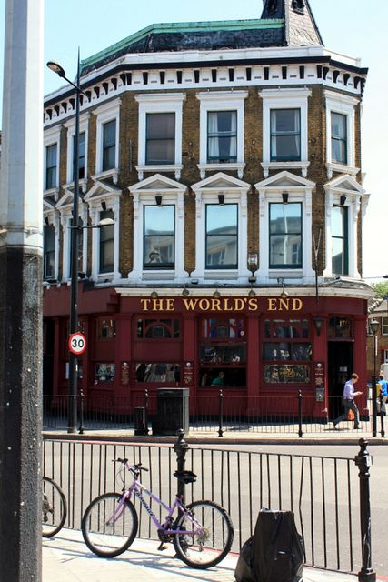 The World's End in Camden Town, London- a major location in Rook, Rhyme & Sinker, third book in the Ernie Bisquets Mystery Series.