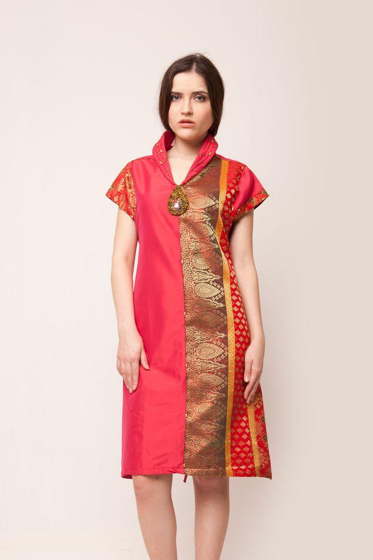 Magenta Songket Dress