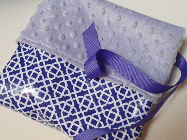 """Waterproof Stroller Blanket Purple, Baby Blanket, Baby Carrier, Car Seat Blanket, Designer Geometric Print, 34"""" x 28"""""""