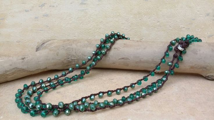 """Collana-bracciale """"Nido"""" di #Alchimia #filocerato #cristalli #lecce alchimia5874@gmail.com"""