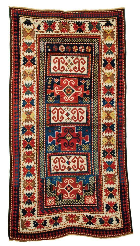 Grogan and Company | KAZAK RUG, Caucasus, circa 1900 7 feet 3 inches x 3 feet 8 inches
