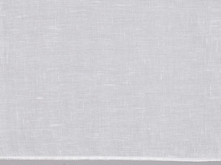 Astoria White Voile - Plain white linen look voile curtain fabric that is soft to the touch. Sold by the metre at Harvey Furnishings.