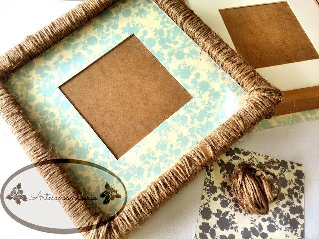 Artesanía Laria: Le damos un nuevo aire a un marco sencillo de ikea...