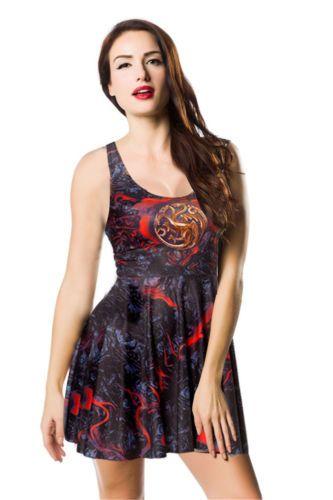 4fb4877d9b04 Game Of Thrones Dress - Design 1. Plissierte KleiderSkater KleidungSelena  ...