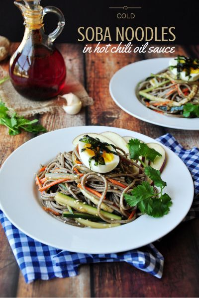Cold Soba Noodles In Hot Chili Oil Sauce