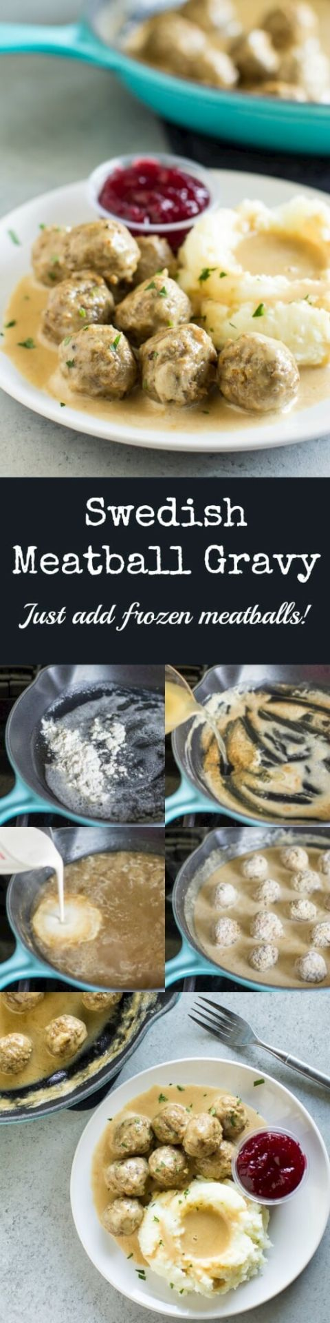 For those times you don't want to make meatballs from scratch, here is an easy recipe for just Swedish Meatball Gravy. Add frozen meatballs and you're done!