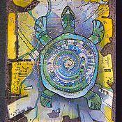 Картины и панно ручной работы. Ярмарка Мастеров - ручная работа Батик.Отход на Север.. Handmade.