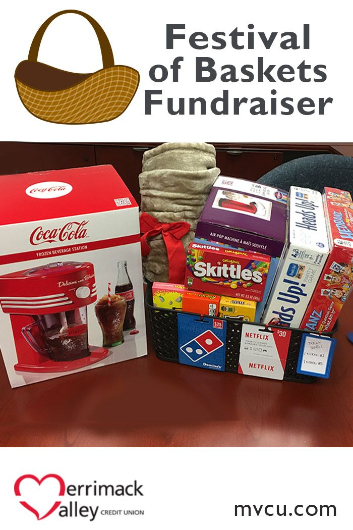 The Plaistow MVCU Branch created this basket for our Festival of Baskets Fundraiser: All the Fun you Need on a day home….$25 Dominoes Gift card, $30 Netflix gift card, Head Banz Game,  Heads Up Game, Popcorn maker, Frozen Beverage Station, Blanket and Candy!