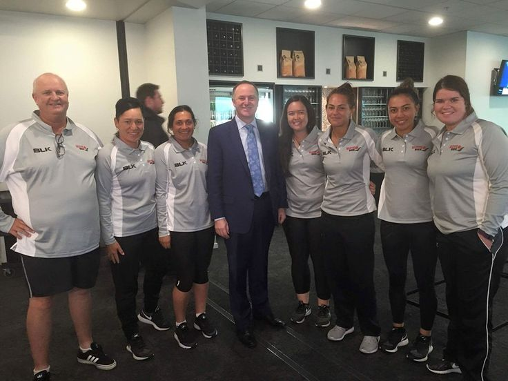 The White Sox touch down in Auckland and catch up with Prime Minister John Key. Welcome home team! #WSXSoftball — with Kevin Gettins, Deanna Paul, Mikayla Werahiko, Mel Gettins, Charlotte Pointon, Mereana Makea and Courtney Gettins.