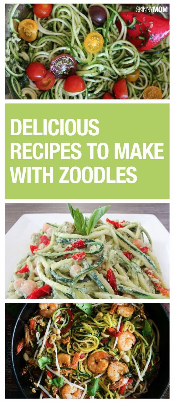 Cut the carbs and make these zoodle recipes instead.