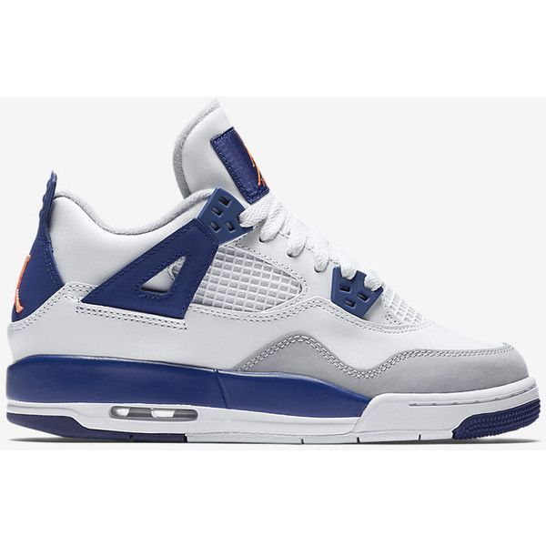 Air Jordan 4 Retro (3.5y-9.5y) Girls' Shoe. Nike.com ($140) ❤ liked on Polyvore featuring jordans and sneakers