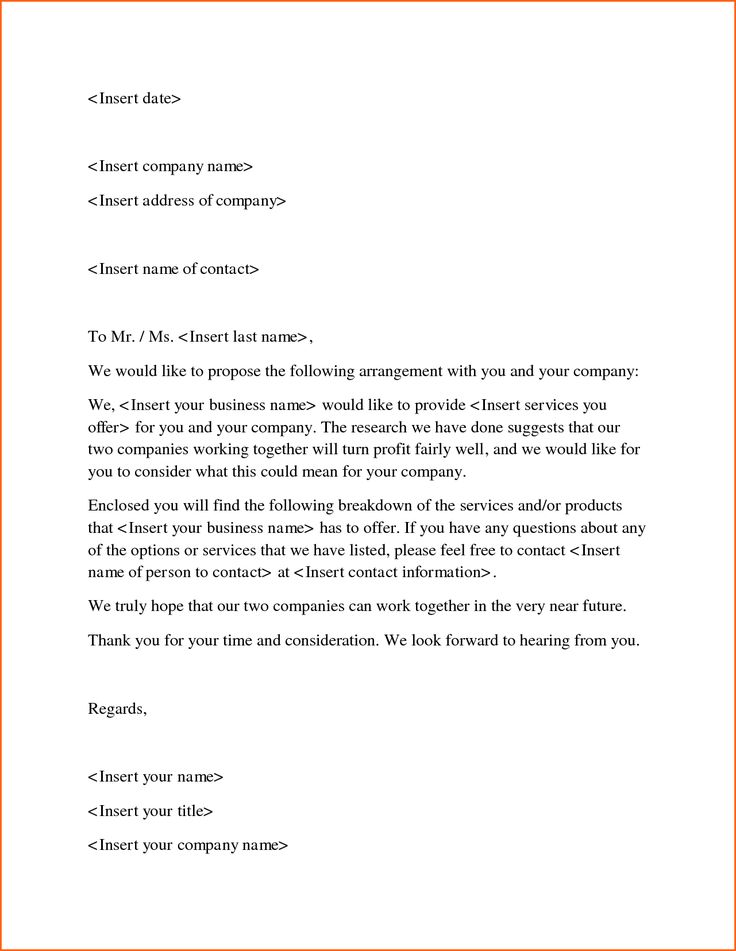 business proposal letter sample doc contract template for - letter of intent for business sample