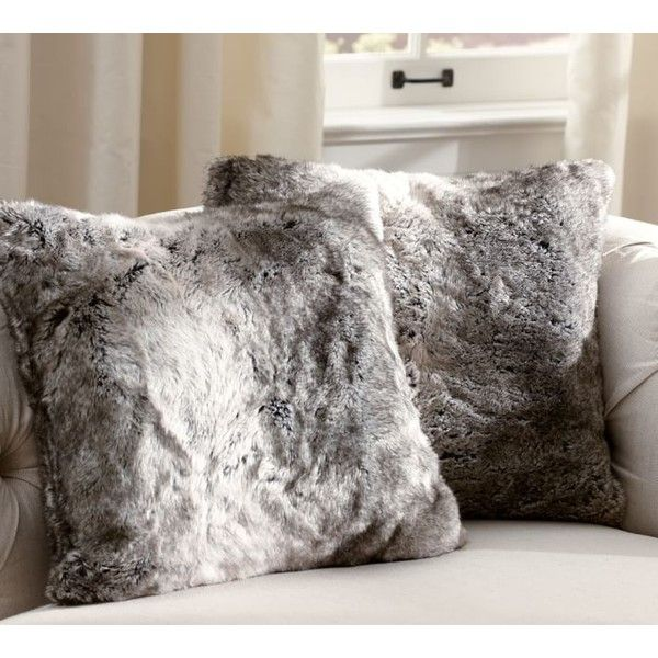 Sofa Slipcovers Pottery Barn Faux Fur Throw Gray Ombre liked on Polyvore featuring