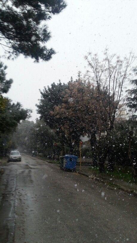 Athens snow