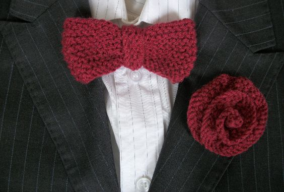 Bow Tie and Buttonhole /Boutonniere Set, Hipster, Wedding, Party