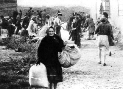 Tens of thousands of Hungarian Jews are forced to leave their homes, and move into specially designated ghetto areas.