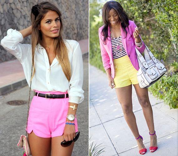 Bátran viselj színes darabokat is, de mindenképpen harmonizáló árnyalatokat válassz! Ha nagyon élénk a sort színe, a többi ruha és kiegészítő inkább halvány, pasztellszínű legyen.