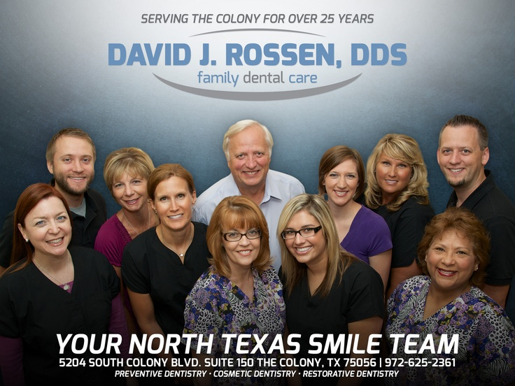 The smile team at David J. Rossen, DDS in The Colony