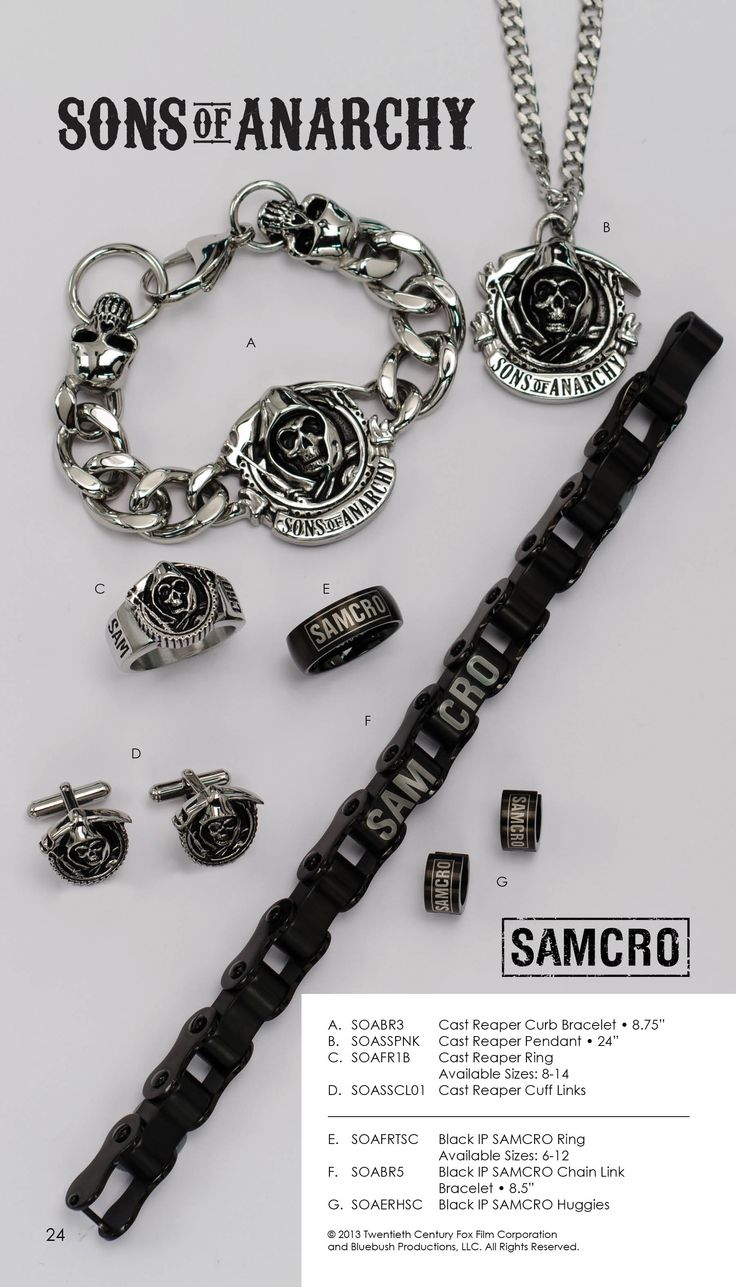 Shop Sons of Anarchy merchandise at the FX Shop for leather jackets, SAMCRO and Reaper t-shirts, accessories and more!