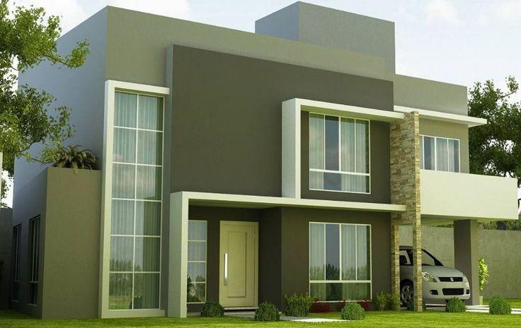 Resultado de imagen para fachadas de casa de dos pisos con for Fachadas de casas con terraza