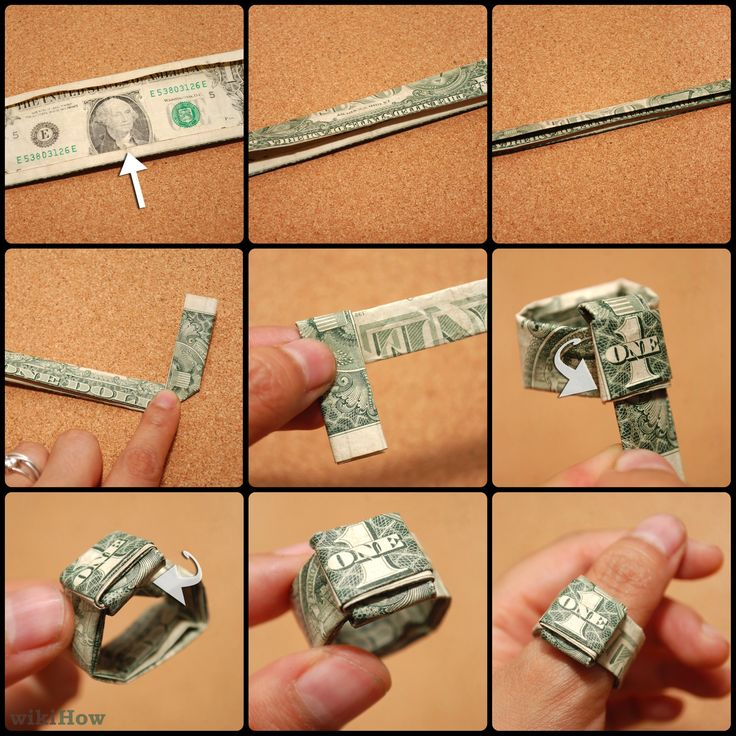 Make a ring out of a dollar! Fun kids craft time! from wikiHow.com