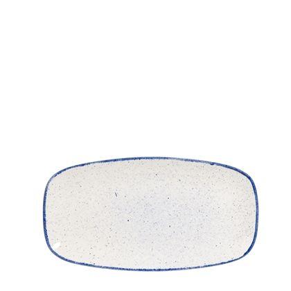Churchill Stonecast Hints Indigo Blue Chefs Oblong Plate