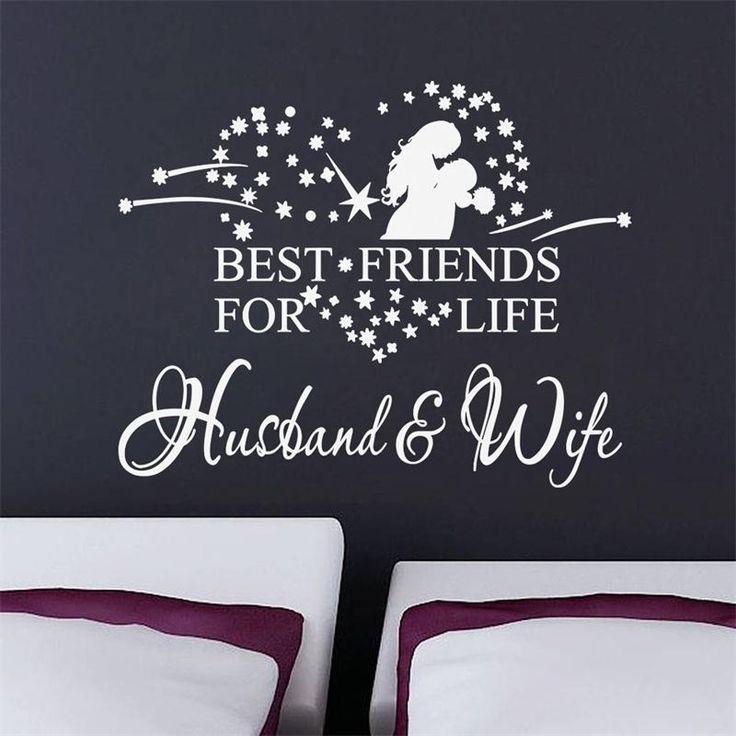 Муж и Жена Стикер Стены Котировки виниловые наклейки на Стены home decor 8385 Remonable Обои Свадебные Украшения Стены Винила Котировки