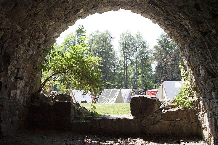 Lovisa Ancient Fair is arranged inside ruins of a bastion